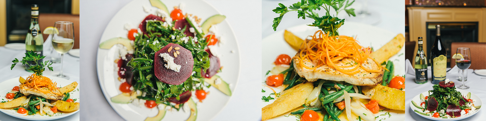 Two different vibrant dishes