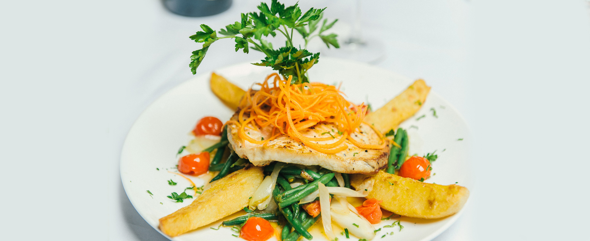 A vibrant dish from Cafe Luna